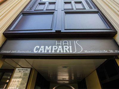 Campari Haus Eingang Maximilianstr. 38