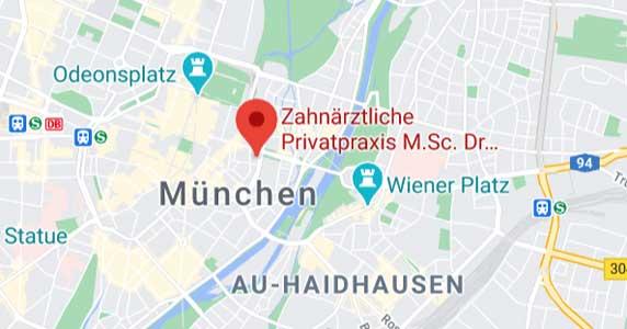 Stadtplan München - Praxis Dr Chiperi - Wurzelbehandlung Maximilianstr. 38 Altstadt-Lehel
